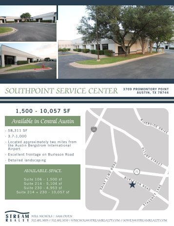 southpoint service center 3709 promontory point - Stream Realty ...