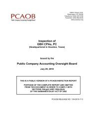 Inspection of GBH CPAs, PC Public Company Accounting Oversight ...