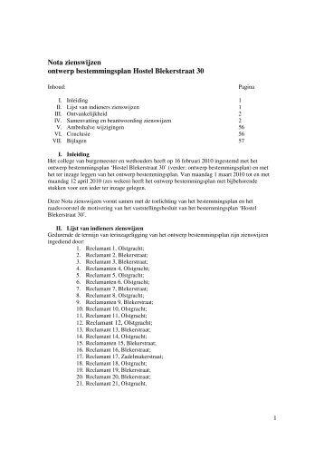 Nota zienswijzen ontwerp bestemmingsplan ... - Gemeente Almere