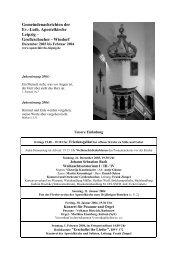 Gemeindeblatt von Dezember 2003 - Februar 2004 - Apostelkirche ...