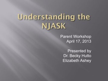 English Language Arts NJASK Parent Workshop PowerPoint