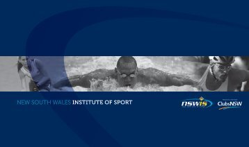 Promotional Brochure - NSW Institute of Sport