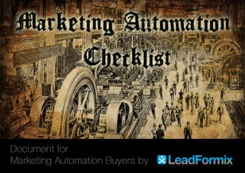 LeadFormix Marketing Automation Checklist.pdf - SugarForge