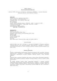 Lieky na nervový systém - Fakultná nemocnica s poliklinikou Nové ...