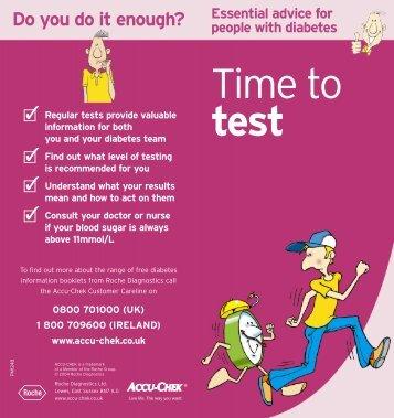 Blood sugar testing - Accu-Chek