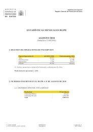 AGOSTO 2010 - Agencia Española de Protección de Datos