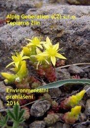 Alpiq Generation (CZ) sro Teplárna Zlín Environmentální prohlášení ...