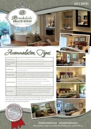Accommodation Types - Brookdale Health Hydro