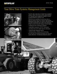 Your Drive Train Systems Management Guide - Peterson CAT