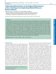 Calibrating biomonitors to ecological disturbance: a new technique ...