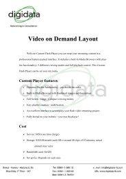 Video on Demand Layout - digidata