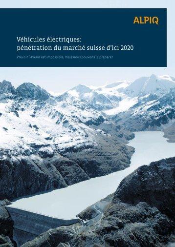 Véhicules électriques: pénétration du marché suisse d'ici 2020 - Alpiq