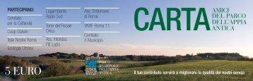 Carta Amici del Parco - Parco Appia Antica