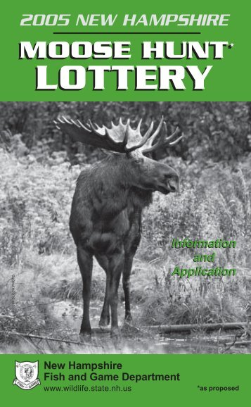 LOTTERY LOTTERY - New Hampshire Fish and Game Department