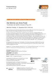 Die Stimme von Anne Frank - i-camp - Neues Theater München