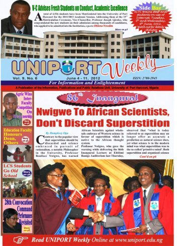Vol. 9 No. 6 June 4 - University of Port Harcourt