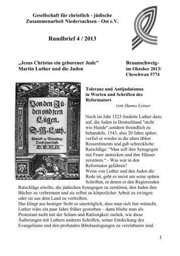 Rundbrief 4-13 - Gesellschaft für christlich-jüdische ...