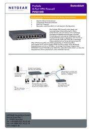 ProSafe 8-Port VPN Firewall FVS318G Datenblatt - Icecat.biz