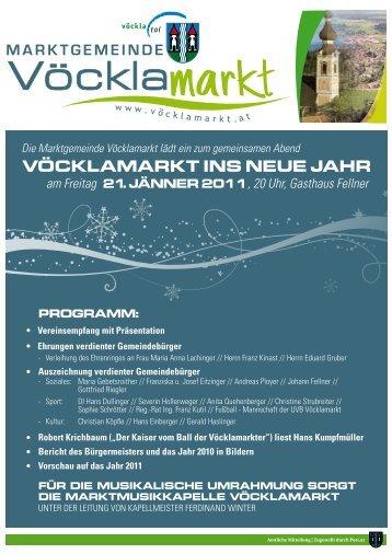 Gemeindezeitung Jänner 2011 - Sonderausgabe ... - Vöcklamarkt