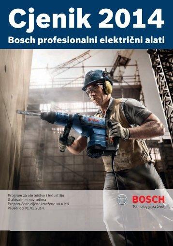 BOSCH električni alat plavi Cjenik 2014