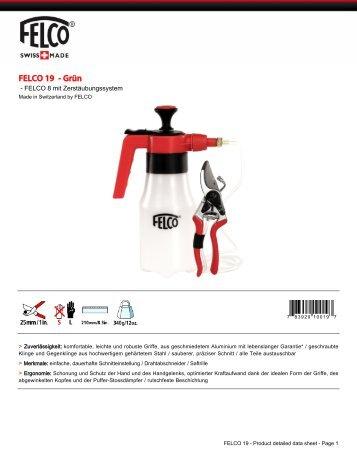 Datenblatt Produkt - Felco