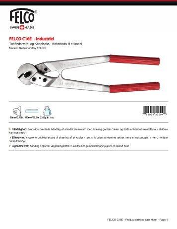 Produkt specifikationer - Felco