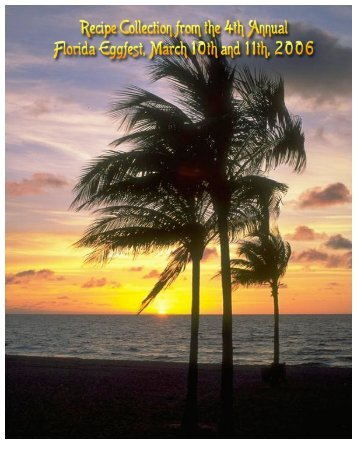 2006 Florida Eggfest Cookbook - Naked Whiz