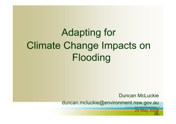 Adapting for Climate Change Impacts on Flooding