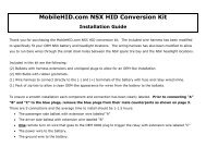 HID Conversion Kit Install - Dali Racing