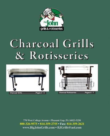 BJG Catalog 2013 - gas grills, charcoal grills, charcoal rotisseries