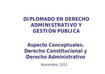 Aspecto Conceptuales. Derecho Constitucional y Derecho ...