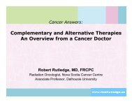 Complementary and Alternative Therapies An Overview from a ...