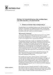 Riktlinjer för biståndsbedömning enligt ... - Västerås stad