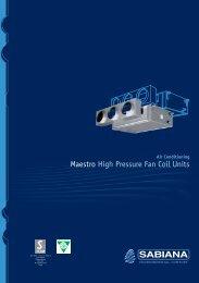 Maestro High Pressure Fan Coil Units - BTK