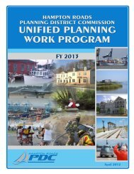 FY 2011 HRPDC Unified Planning Work Program - Hampton Roads ...