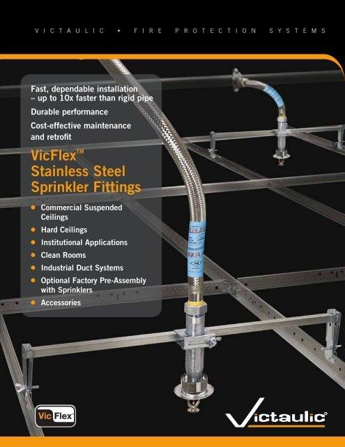 VicFlexTM Stainless Steel Sprinkler Fittings - Victaulic