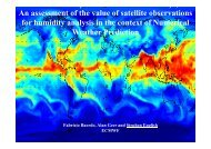 An assessment of the value of satellite observations for humidity ...