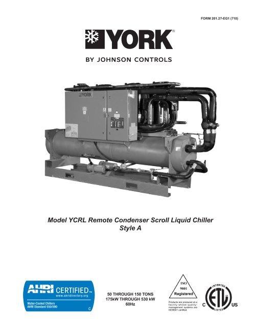 Model Ycrl Remote Condenser Scroll Liquid