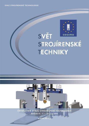 Svět strojírenské techniky číslo 1/2008 (PDF, 5.60 MB) - Svaz ...