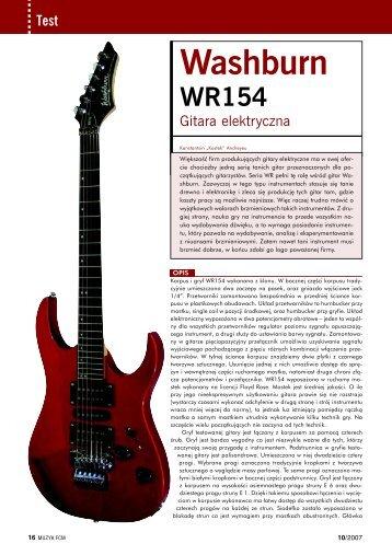 Washburn WR154 - Music Info