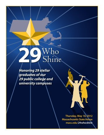 Honoring 29 stellar graduates of our 29 public college and university ...