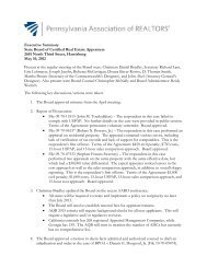 Executive Summary State Board of Certified Real Estate Appraisers ...