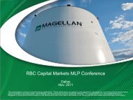 RBC Capital Markets MLP Conference - Magellan Midstream Partners
