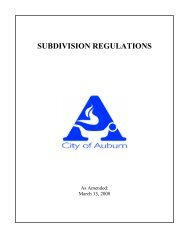 SUBDIVISION REGULATIONS - City of Auburn