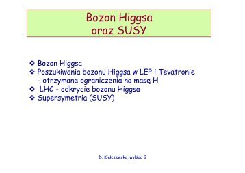 Bozon Higgsa oraz SUSY