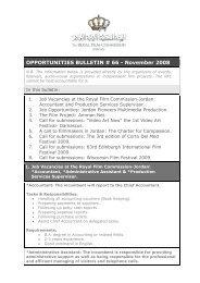 Opportunities Bulletins # 66 November - The Royal Film ...