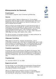 Klimascenarier for Danmark (Pdf) - Klimatilpasning