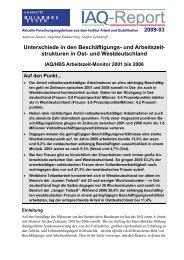 und Arbeitszeit- strukturen in Ost - Institut Arbeit und Qualifikation ...