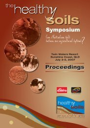 The Healthy Soils Symposium Proceedings - Land and Water Australia