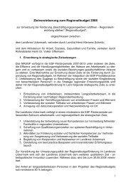 Zielvereinbarung RB II - Regionalbudget Uckermark